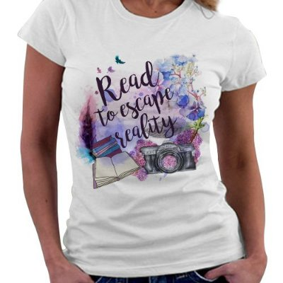 Camiseta Feminina -  Read to Escape