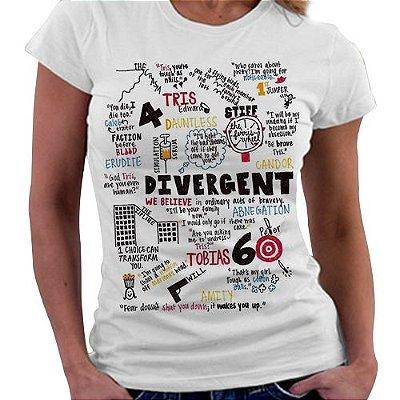 Camiseta Feminina - Divergente - Elementos