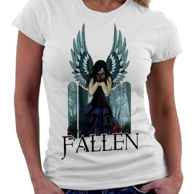 Camiseta Feminina - Livro Fallen - Anjo Luce