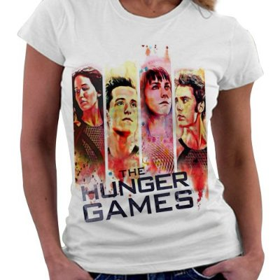 Camiseta Feminina - Jogos Vorazes - Personagens