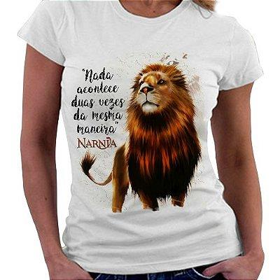 Camiseta Feminina - Narnia - Aslan