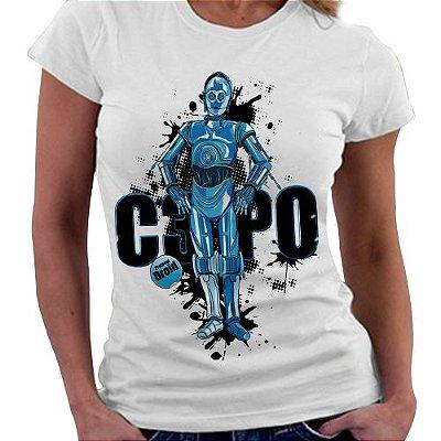 Camiseta Feminina - C3PO