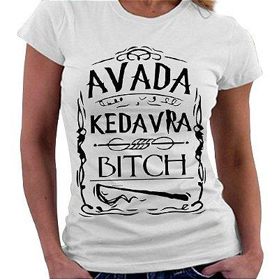 Camiseta Feminina - Harry Potter - Avada Kedavra