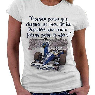 Camiseta Feminina - Ayrton senna