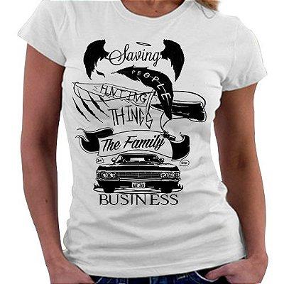 Camiseta Feminina - Negócios de Familia