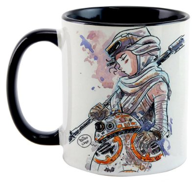 Caneca - Star Wars - BB8 e Rey