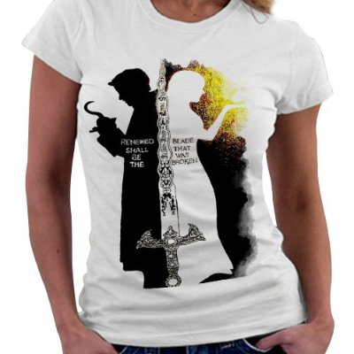 Camiseta Feminina - Once upon a Time - Emma e Gancho