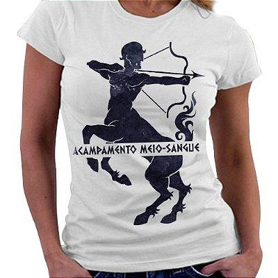 Camiseta Feminina - Acampamento meio Sangue