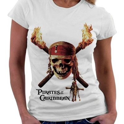 Camiseta Feminina - Piratas do Caribe