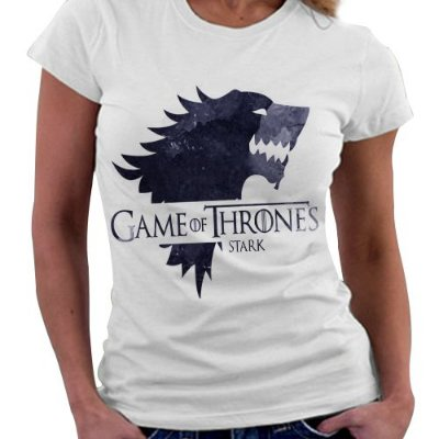 Camiseta Feminina - Game of Thrones - Casa Stark