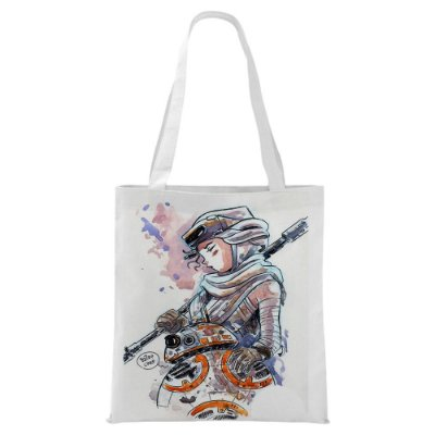 Ecobag - Star Wars - Rey e BB8