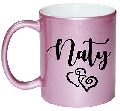 Caneca Pink - Personalizada com seu Nome