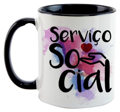 Caneca - Profissões - Serviço Social
