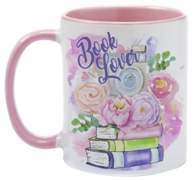 Caneca  - Bookstagram - Book Lover - Flowers