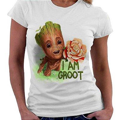 Camiseta Feminina - Groot