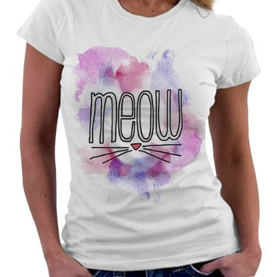 Camiseta Feminina - Meow