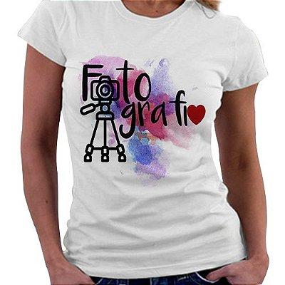 Camiseta Feminina - Profissões - Fotografia