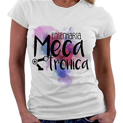 Camiseta Feminina - Profissões - Engenharia Mecatrônica
