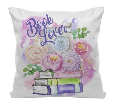 Almofada - Bookstagram - Book Nerd Flowers