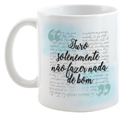 Caneca - Juro Solenemente - Harry Potter