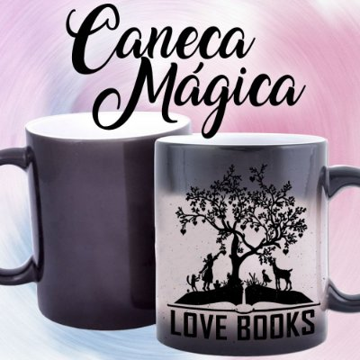 Caneca Mágica - Bookstagram - Love Books -Black