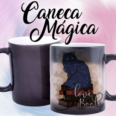 Caneca Mágica - Bookstagram - Love Books - Cat
