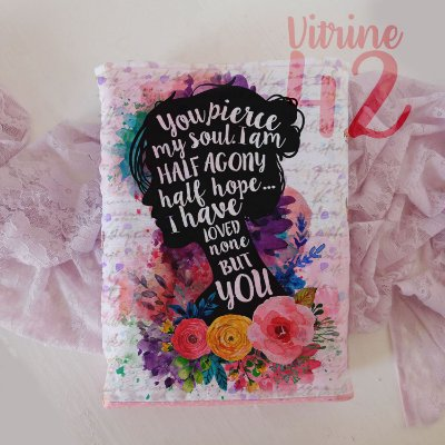 Capa Tipo Luva para Livro - Jane Austen - Metade de Mim