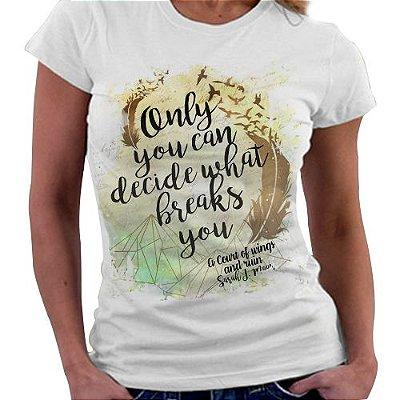 Camiseta Feminina - Corte de Espinhos e Rosas - Corte de Asas e Ruínas