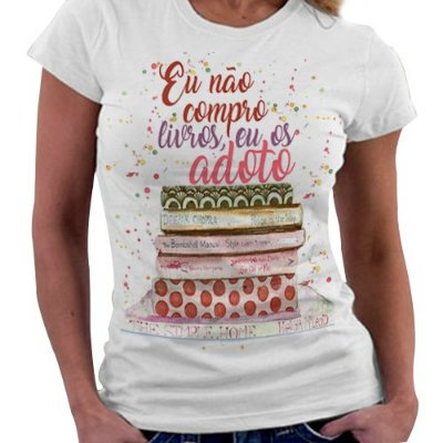 Camiseta Feminina - Bookstagram - Adoto Livros
