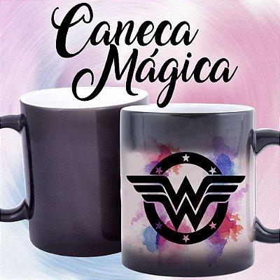 Caneca Mágica - Mulher Maravilha - Logo