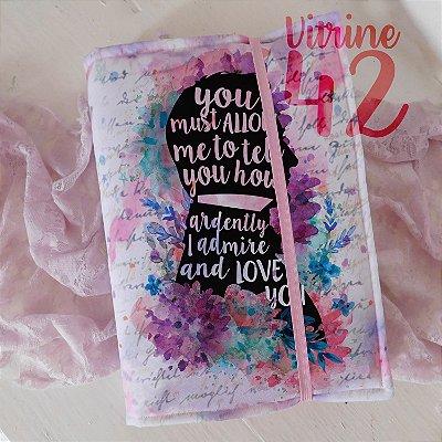 Capa ajustável para Livro - Jane Austem - Love You