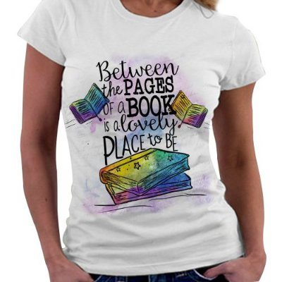 Camiseta Feminina - Bookstagram - Livros não mudam