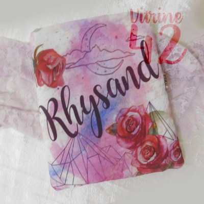 Capa Tipo Luva para Livro - Corte de Espinhos e Rosas - Rhysand