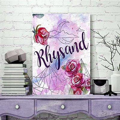 Quadro MDF - Bookstagram - Corte de Espinhos e rosas - Rhysand