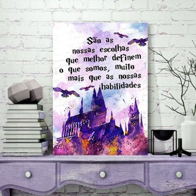 Quadro MDF - Harry Potter - Hogwarts