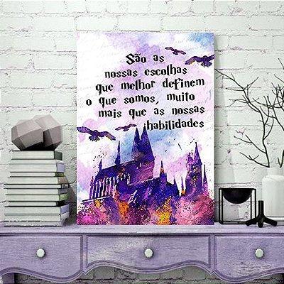 Quadro MDF - Harry Potter - Hogwarts