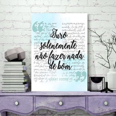 Quadro MDF - Harry Potter - Juro Solenemente