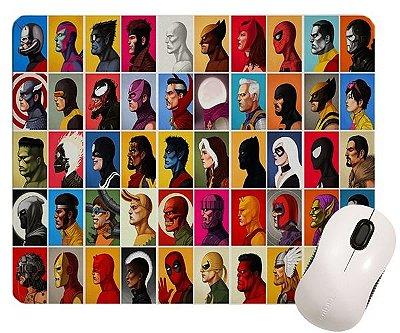 Mouse Pad - Heróis Marvel