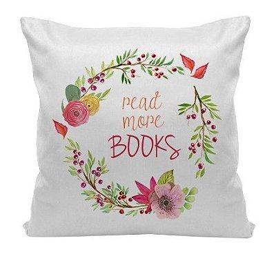 Almofada Bookstagram - Read More Books - Red