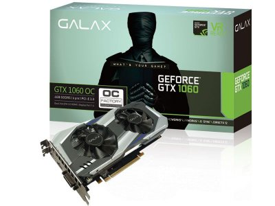 Geforce Galax Nvidia Gtx 1060 Oc Dual Fan 6Gb Ddr5 192Bit 8008Mhz