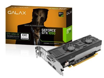 Geforce Galax Nvidia Gtx 1050 Oc Low Profile 2Gb Ddr5 128Bit 7008Mhz