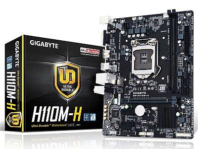 Placa Mãe Lga 1151 Intel Gigabyte Ga-H110M-H Matx Ddr4 Usb 3.0