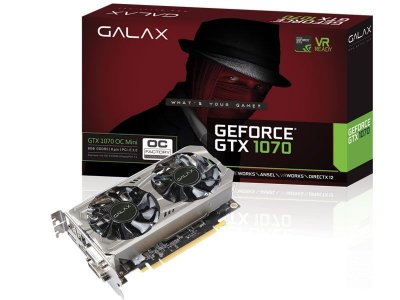 Geforce Galax Nvidia Gtx 1070 Oc Mini 8Gb Ddr5 256Bit 8000Mhz
