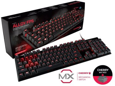 Teclado Gamer Hyperx HX-KB1RD1-NA/A4 Mecânico Alloy Fps Cherry Mx Red