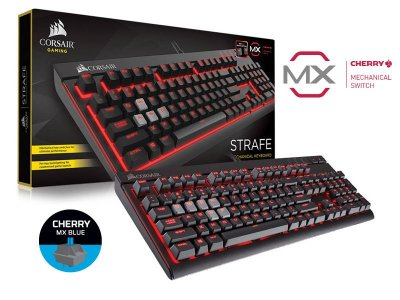 Teclado Gamer Mecânico Corsair CH-9000226-NA Strafe Retro Teclas Cherry Mx Blue
