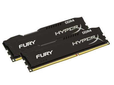 Memória Desktop Gamer Ddr4 Hyperx Fury 8Gb Kit(2X4Gb) 2133Mhz Black