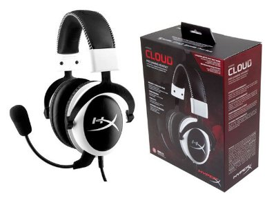 Headset Gamer Hyperx Cloud Preto/Branco