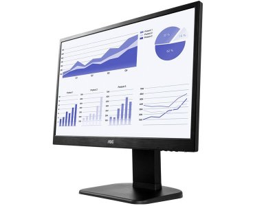 "Monitor Aoc  21,5"" Led 1920X1080 Full Hd Widescreen Vga Hdmi"