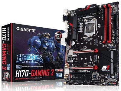 Placa Mãe Lga 1151 Intel Gigabyte Ga-H170-Gaming 3 Atx Ddr4 Crossfire