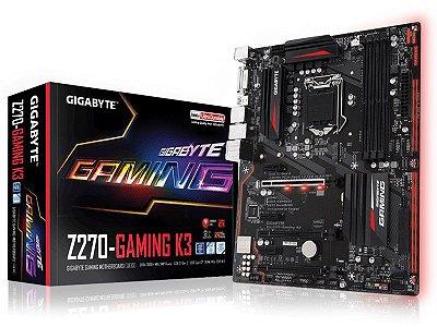 Placa Mãe Lga 1151 Intel Gigabyte Ga-Z270-Gaming K3 Atx Ddr4 Usb 3.1